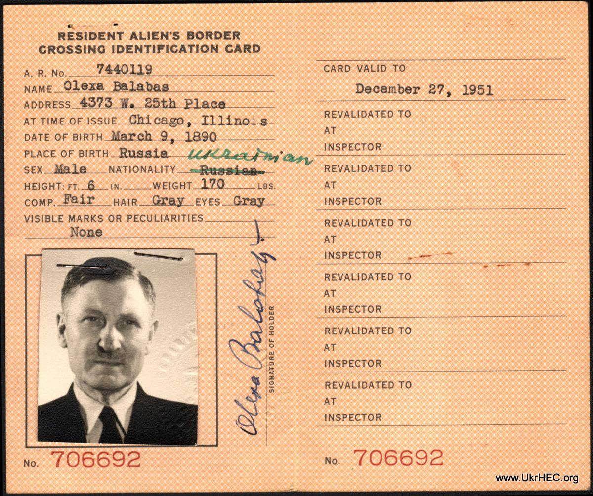 border crossing card · ukrainian history and education
