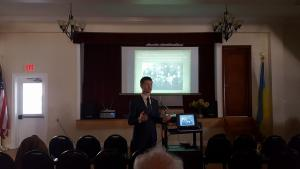 Pavlo Podobev speaks at the UHEC