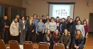 Teachers and students of the St. Andrew Ukrainian School with Pavlo Podobev