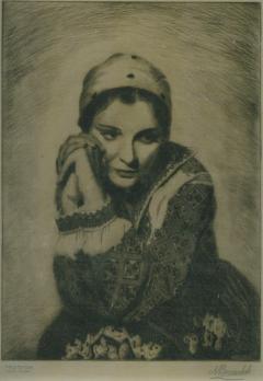 Portrait of Anna Sten by Nicholas Bervinchak