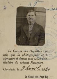 Oleksii Balabas passport photograph, 1920