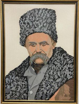 Embroidered portrait of Taras Shevchenko