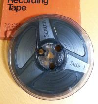 Reel of audio tape